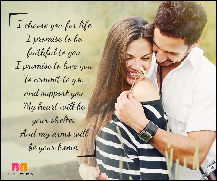 Love Promise Quotes - My Heart Is Your Shelter
