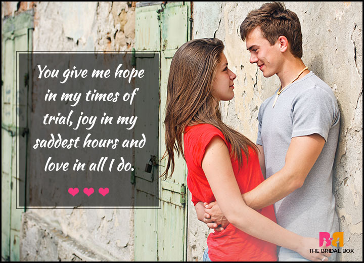 Love Quotes For Her - You Give Me Hope