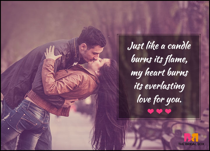 Love Quotes For Her - Just Like A Candle