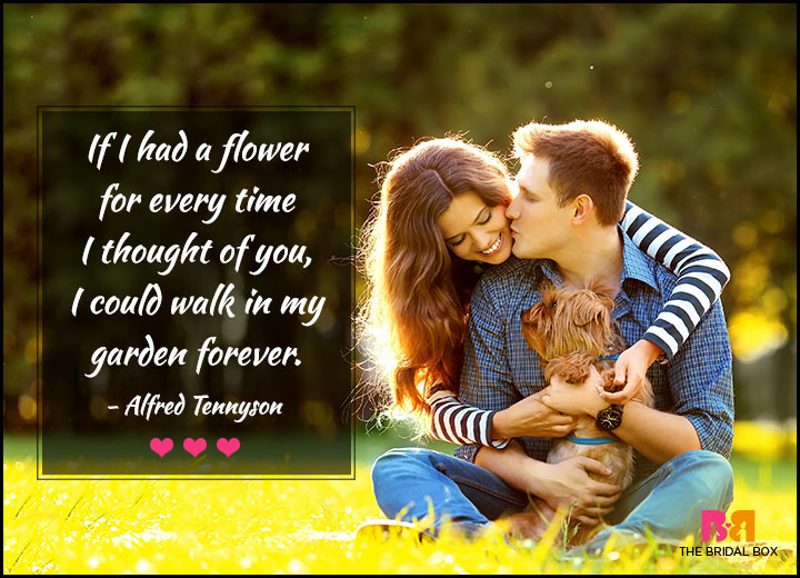 Love Quotes For Her - In My Garden