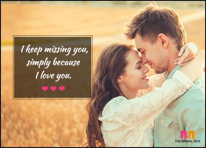 Love Quotes For Her - Missing You