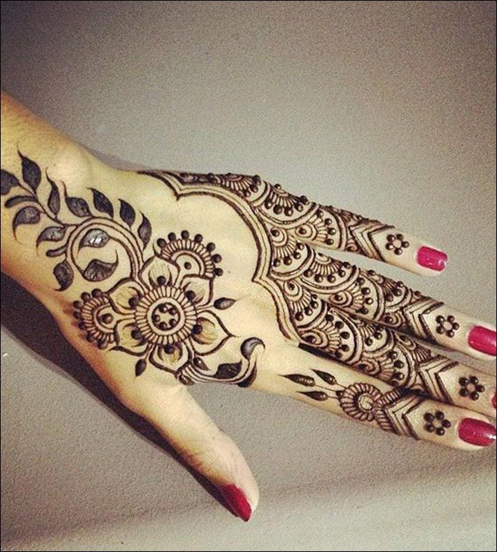 Simple Mehandi Designs - Mix Of Tradition With Style