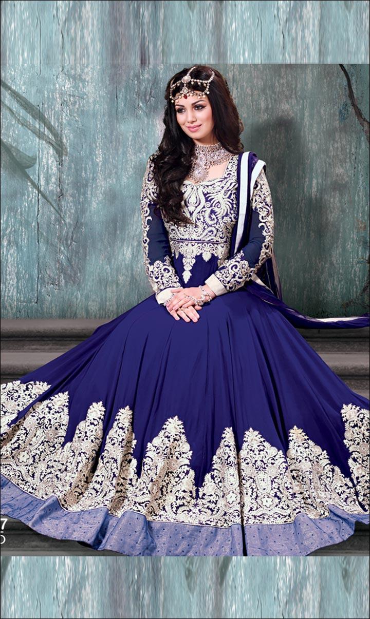 Bridal Suits - A Navy Blue Salwar Suit