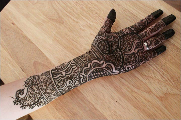 Rajasthani Bridal Mehndi Designs For Full Hands - One For The Modern Day Bride