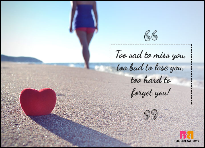 One Sided Love Quotes - To Hard To Forget