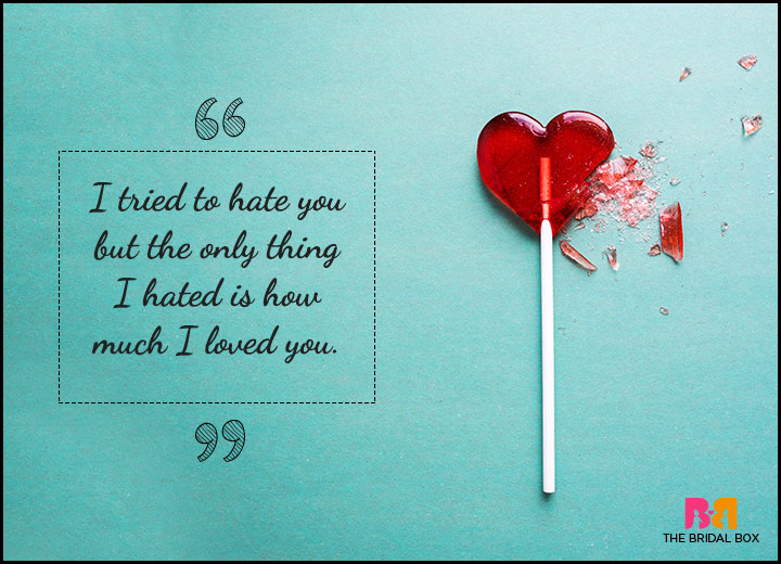 One Sided Love Quotes - I Tried