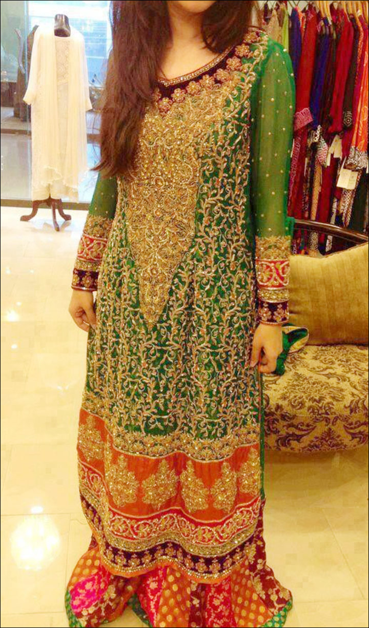 Mehndi Bride Outfit : Top bridal mehndi dresses for the beautiful bride to be