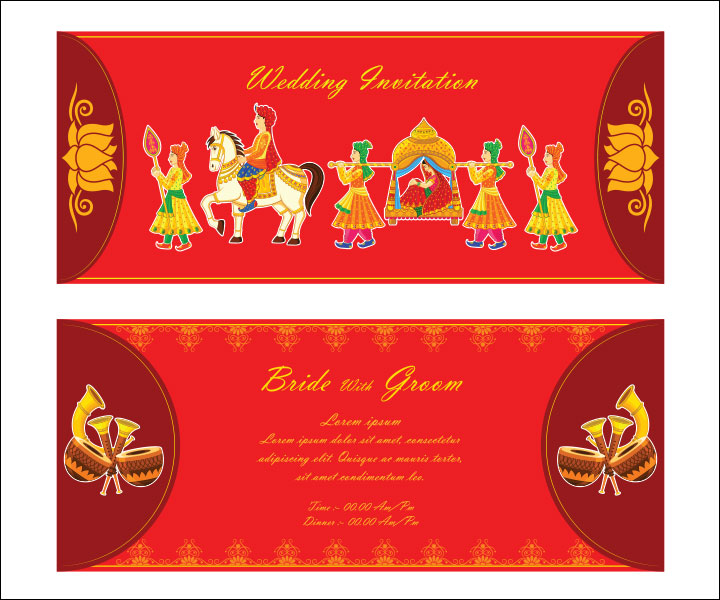10 awesome indian wedding invitation templates you will love for Wedding invitation boxes online india