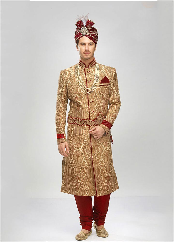 Indian Groom Dress Options - Plush Sequin Sherwani