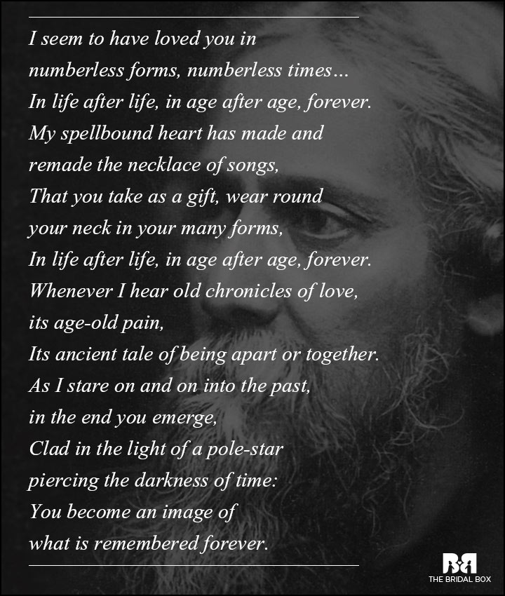 Box Of Love Poem : Rabindranath tagore love poems that capture the essense