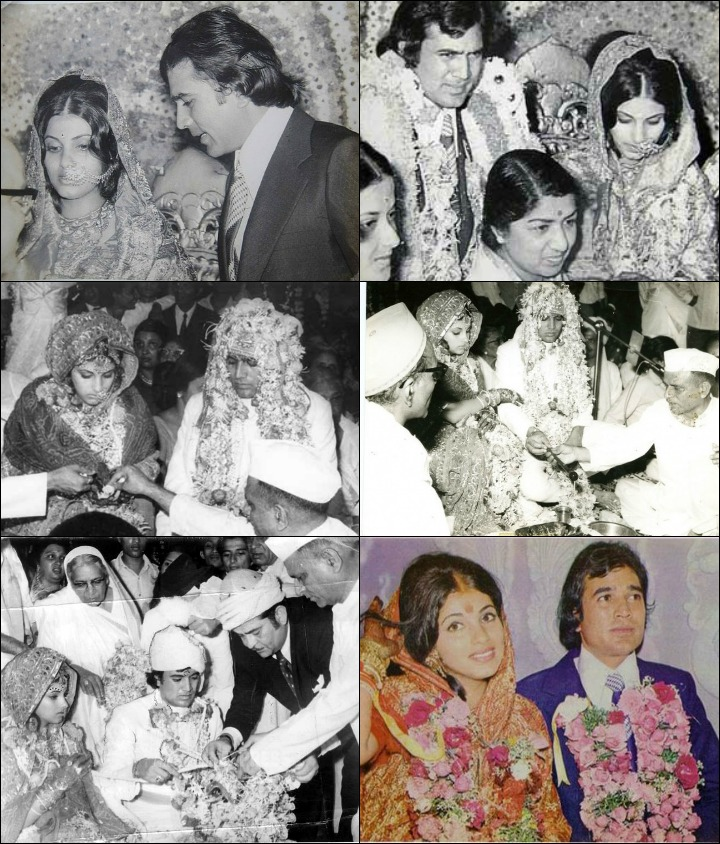 Rajesh Khanna Marriage - Rajesh Khanna With Dimple Kapadia At Their Wedding With Famous Guests