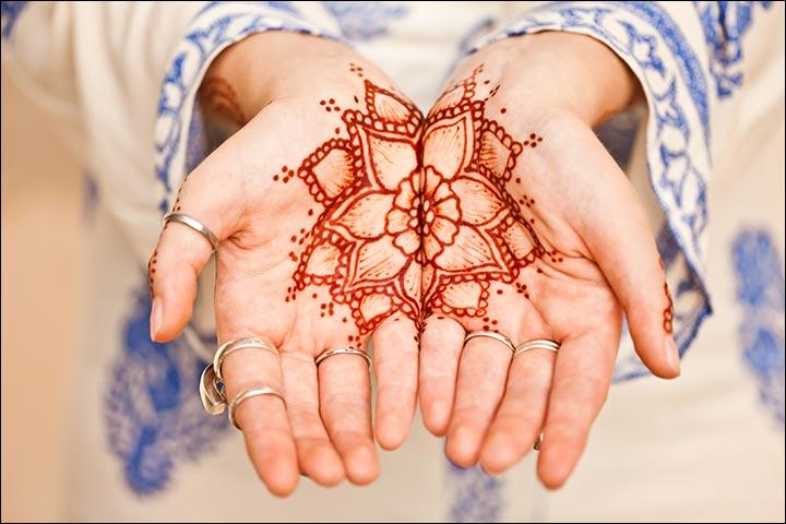 Dubai Mehndi Designs - Red Flower Design