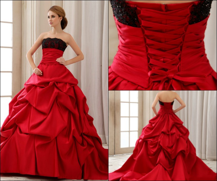 Ravishing Bridal Ideals For The Red Gown For Wedding