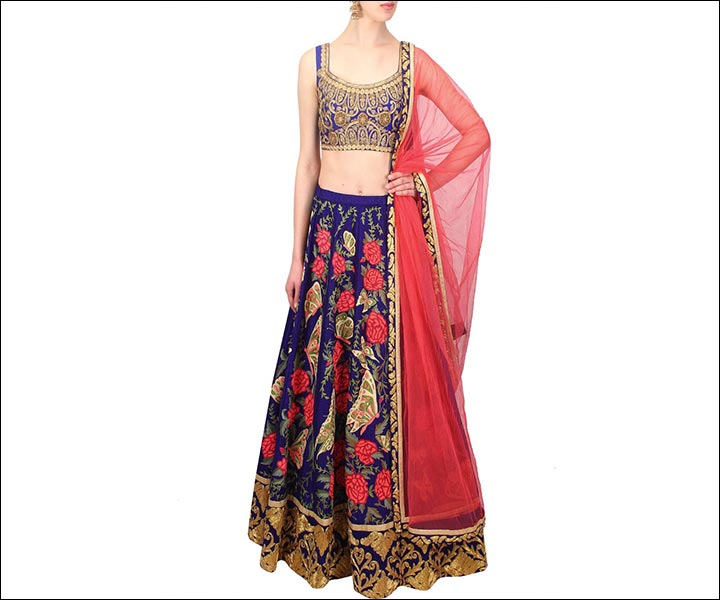Engagement Dresses - Resham And Zari Lehenga