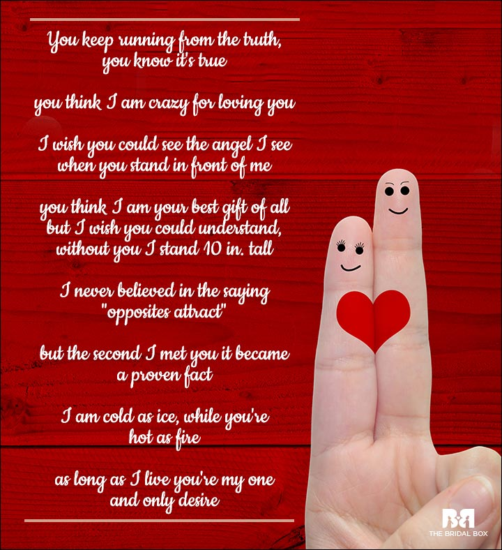 Romantic Love Poems For Him - It's True