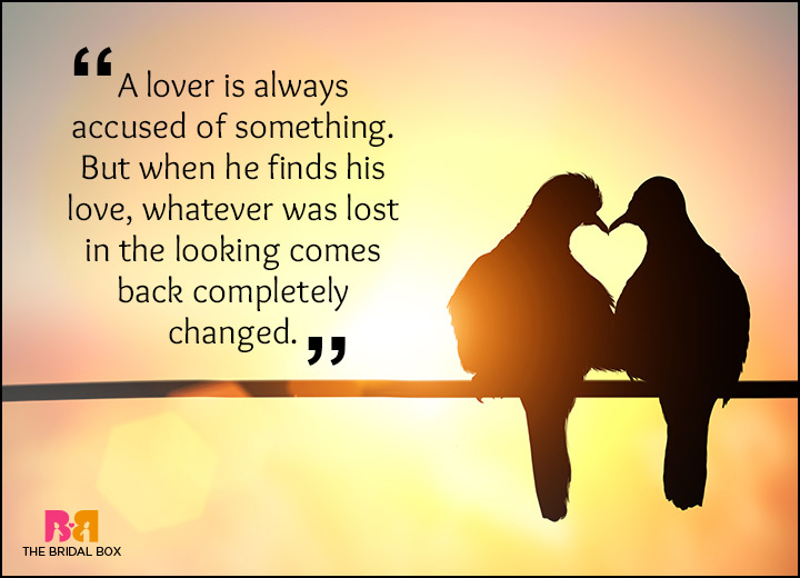 Rumi Love Quotes - A Lover Will Always Find His Lost Love