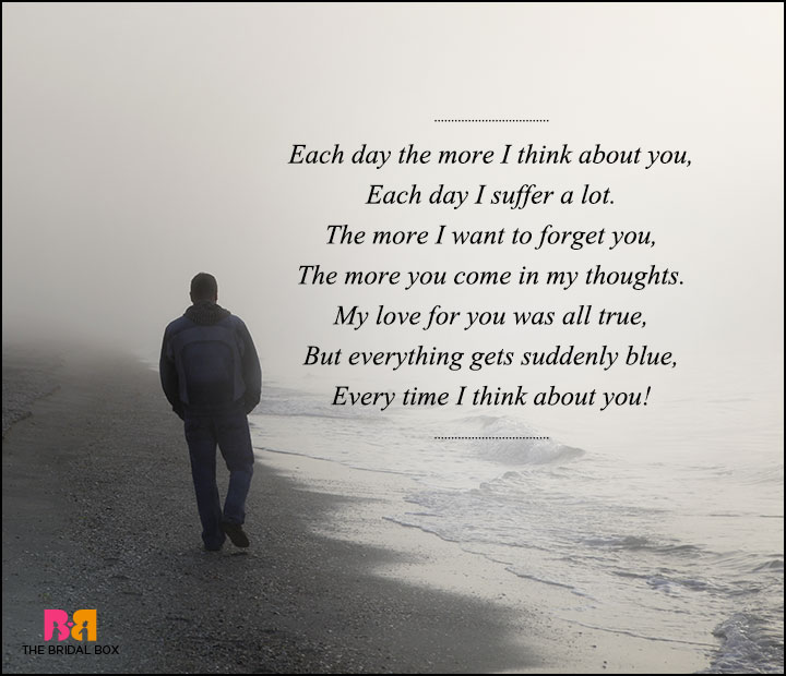 Sad Love Poems For Him - Each Day The More