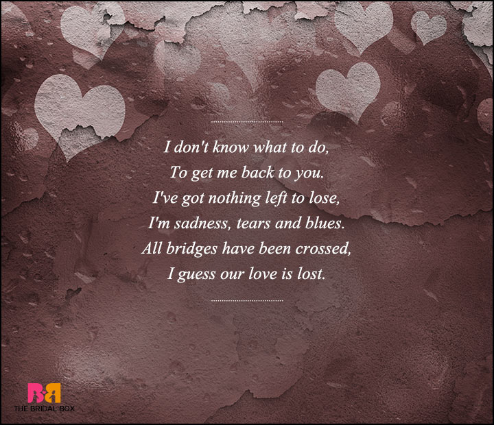 sad love poems for - photo #11