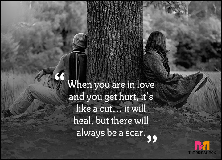 Sad Love Quotes The Scar