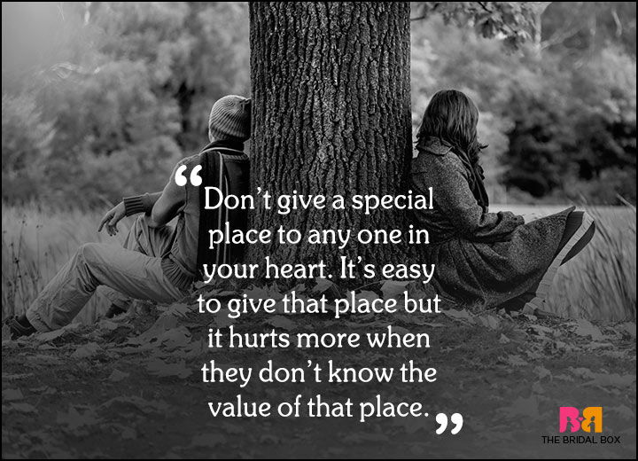 Sad Love Quotes - The Value