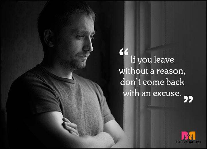 Sad Love Quotes - Excuses