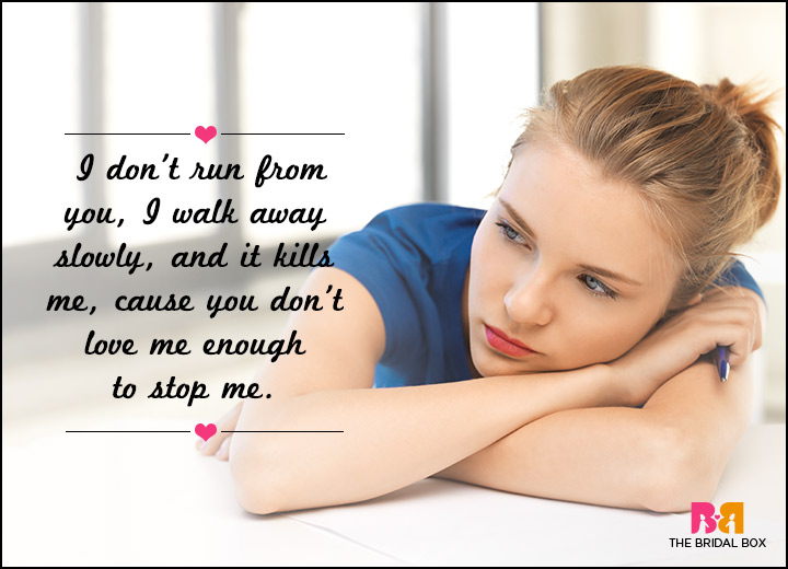 Sad Love SMS Messages - Walking Away Slowly