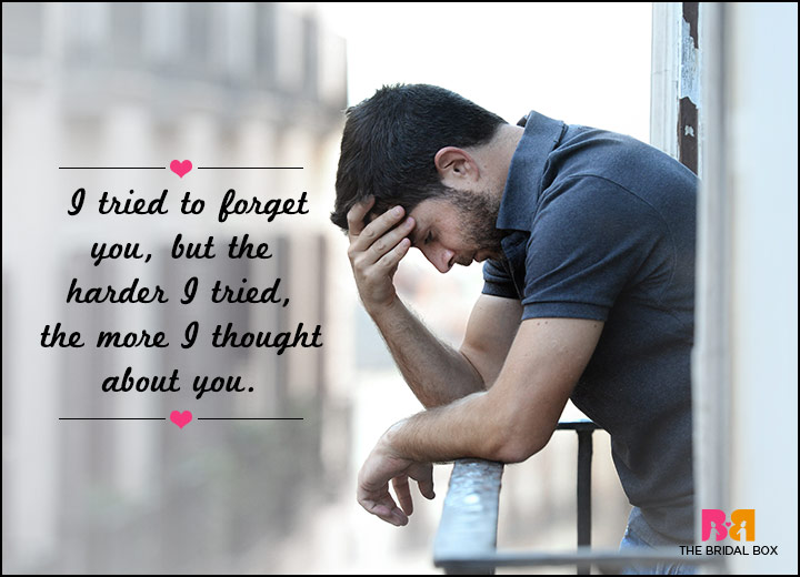 Sad Love SMS Messages - Tried To Forget