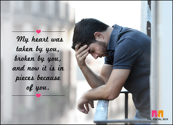 Sad Love SMS Messages - In Pieces Because Of You