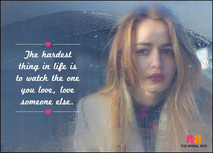 Sad Love SMS Messages - The Hardest Things Is Watching
