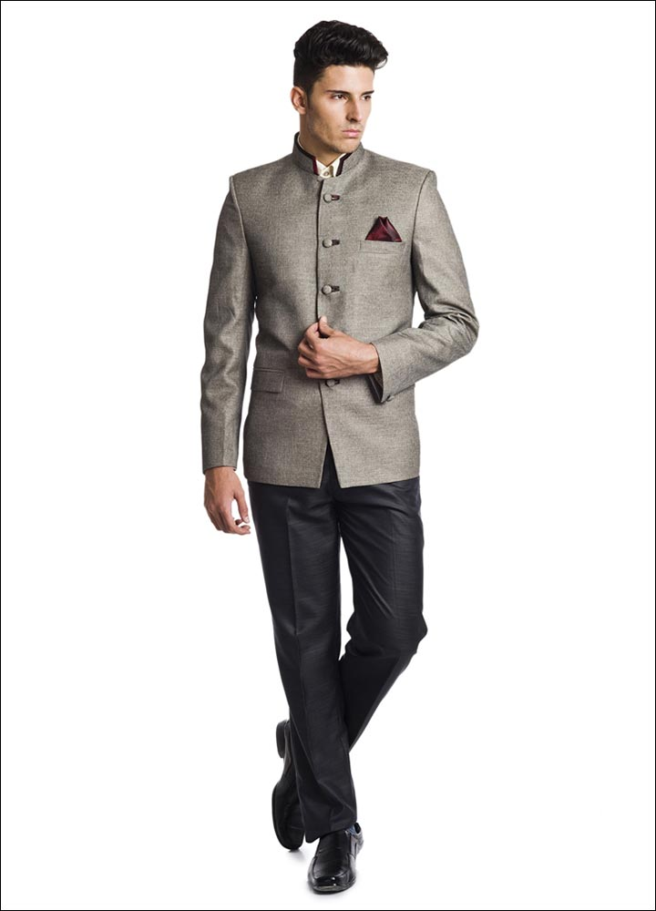Indian Groom Dress Options - Sandy Fabric Bandhgala
