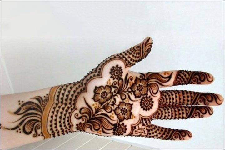 Shaded Khaleeji Rose Mehndi Design