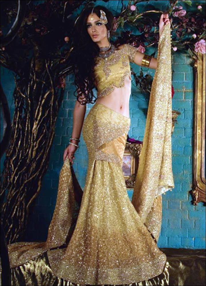 Indian Wedding Dresses - Shimmer In Gold