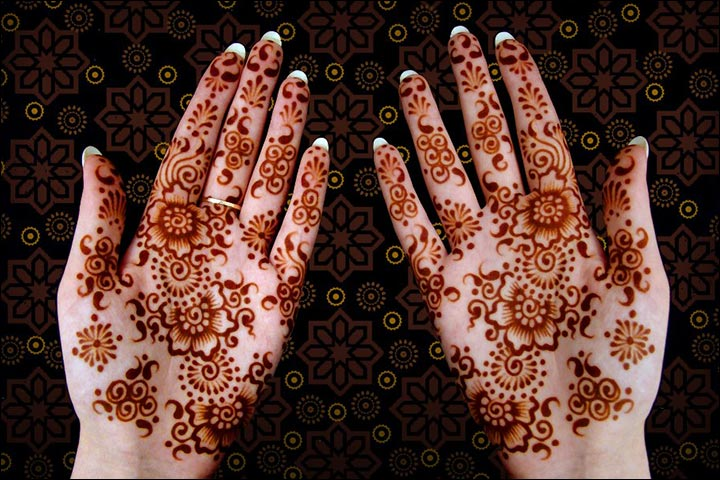 Simple Mehandi Designs - Simple Amelia Design