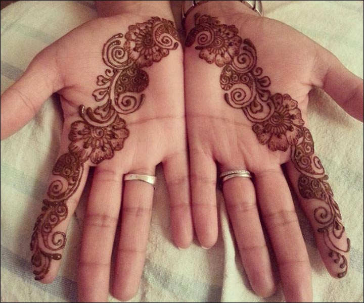 Mehndi Designs For One Hands : Single line mehndi designs 10 best & simple one