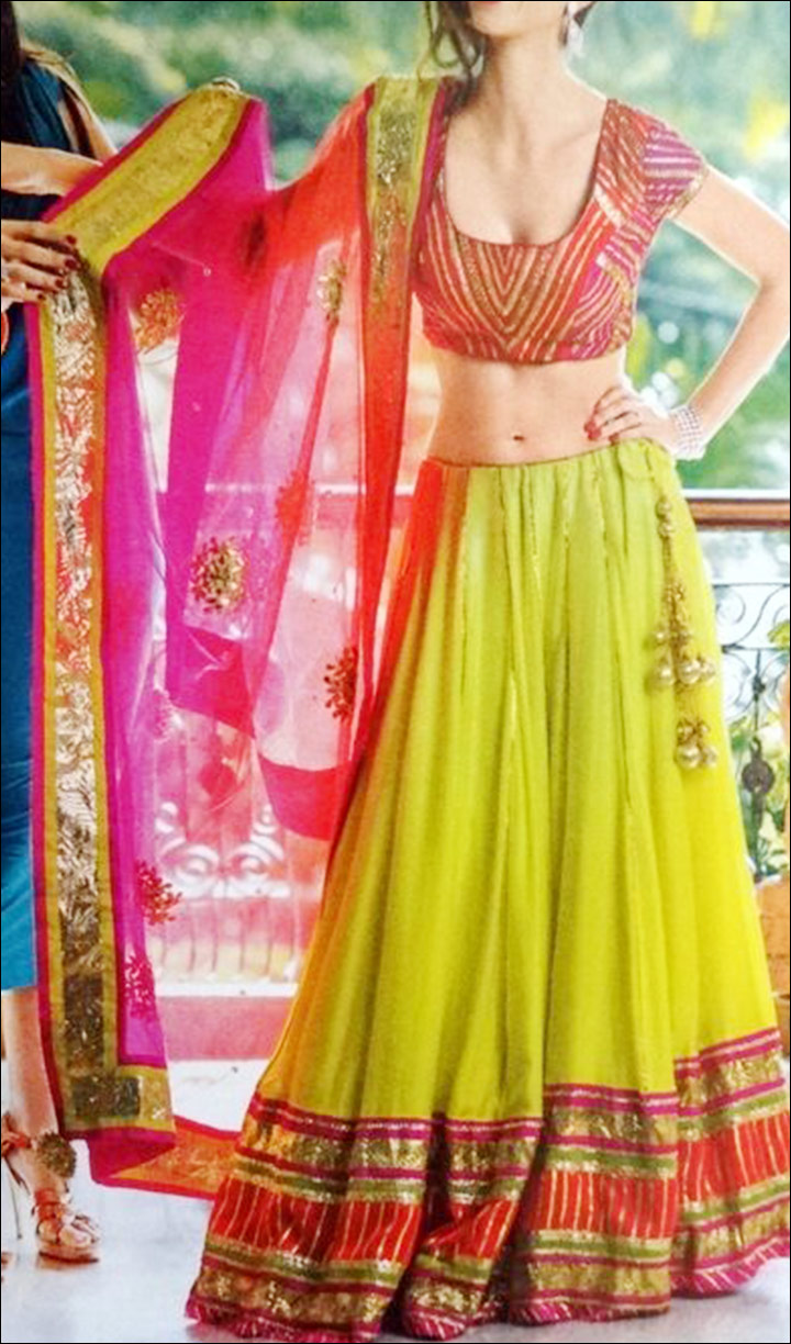 Simple-Yet-Elegant-Green-Lehenga-Choli