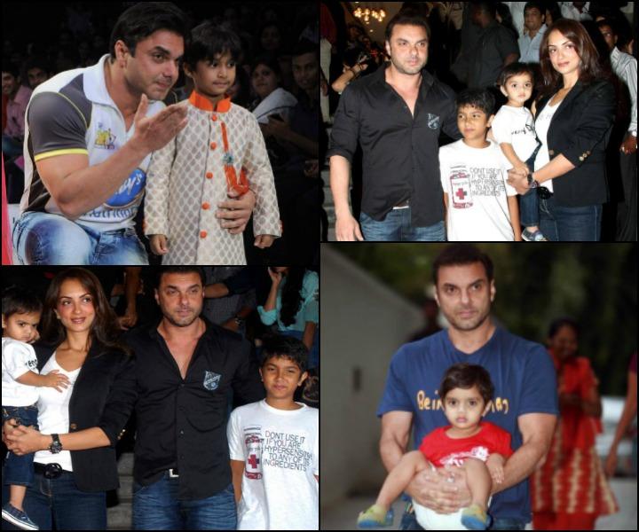The Sohail Khan Wedding Story - Sohail Khan And Seema Sachdev With Their Sons Nirvaan And Yohan