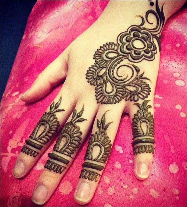 Simple Mehandi Designs - Stylish Arabic Design