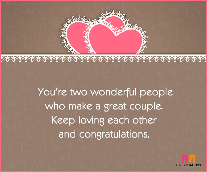 Engagement Wishes - A Great Couple
