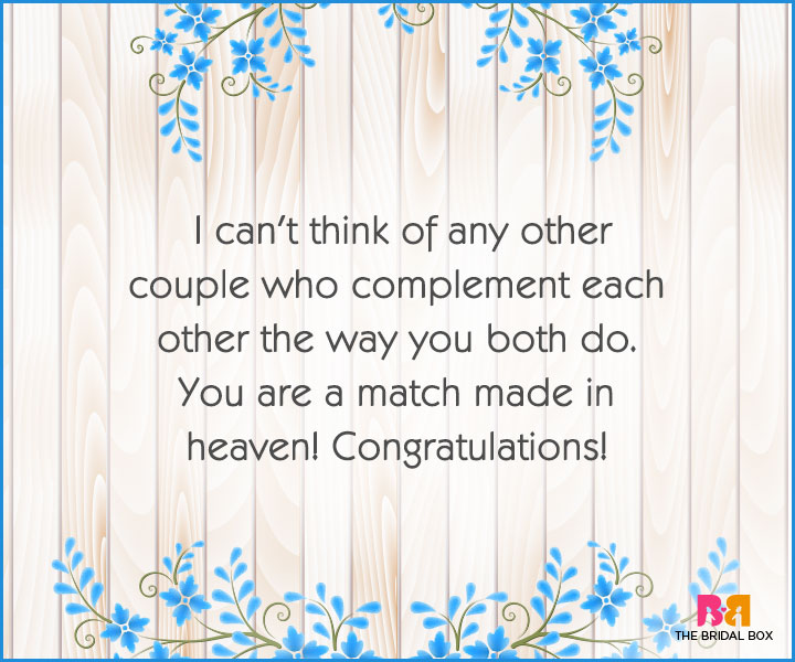Engagement Wishes - You Complement Each Other