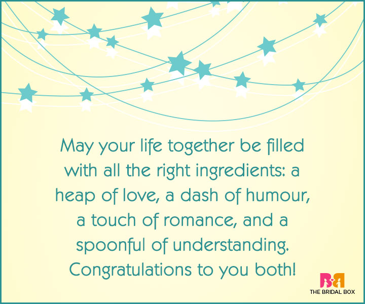 Engagement Wishes - All The Right Ingredients