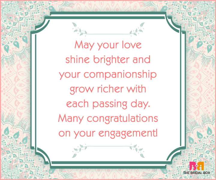 Engagement Wishes - May Your Love Shine Bright