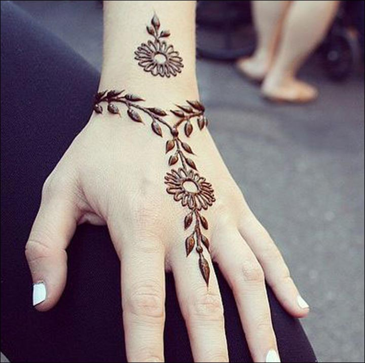 Western Mehndi Designs - The Bracelet