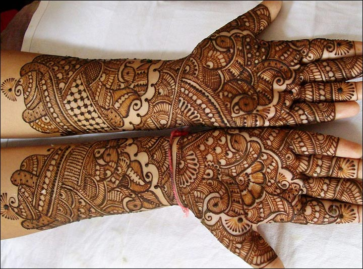 Mehndi Design For Bridal Collection : Rajasthani bridal mehndi designs for full hands top of