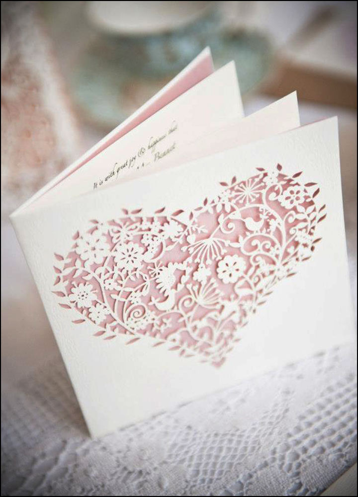 Laser Cut Wedding Invitations - The Designer Laser Cut Wedding Invite