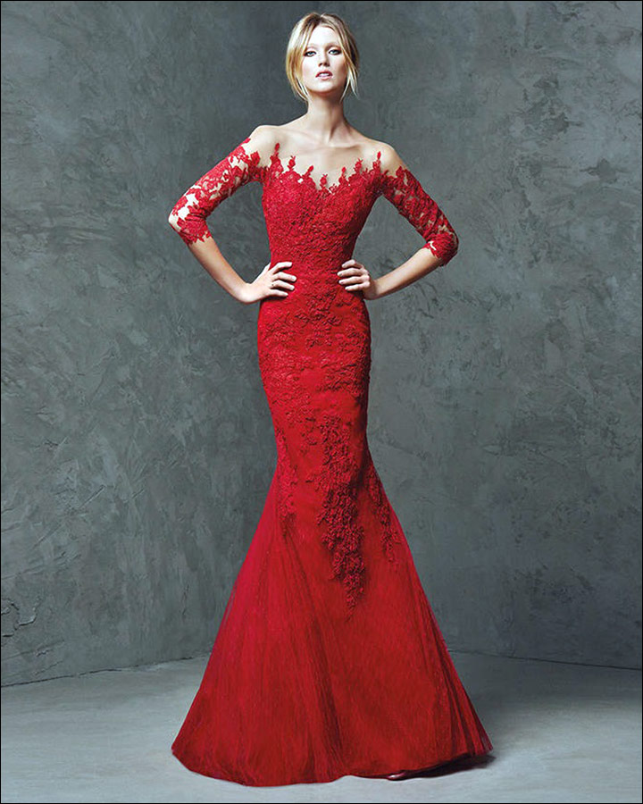 Red Gowns For Wedding - A Mermaid Gown