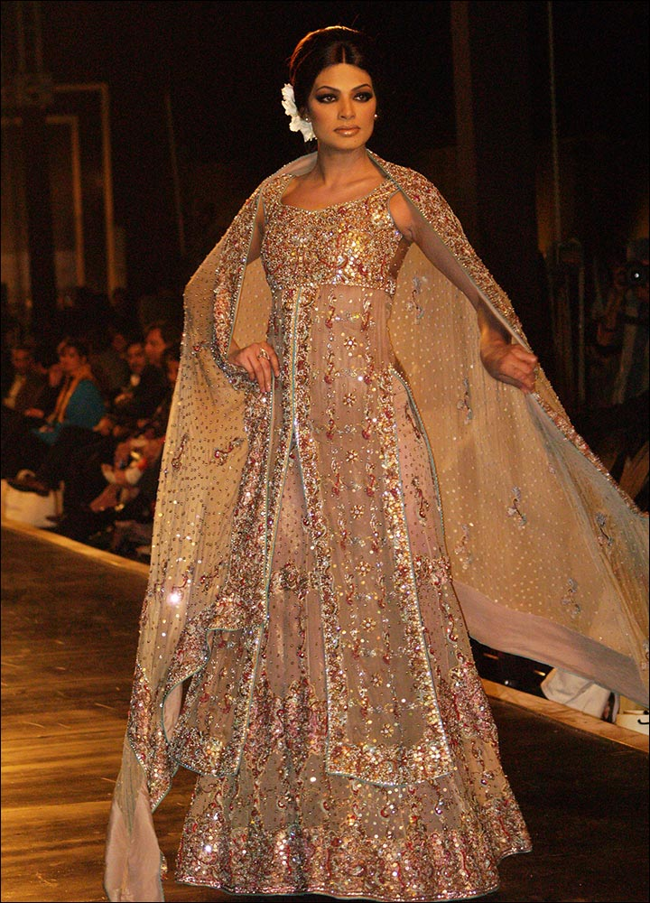 Indian Wedding Dresses - The Long Blouse Lehenga Style