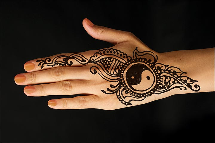 Yin Yang Henna Tattoo: 50 Indian Mehndi Designs That Are Beautifully Traditional