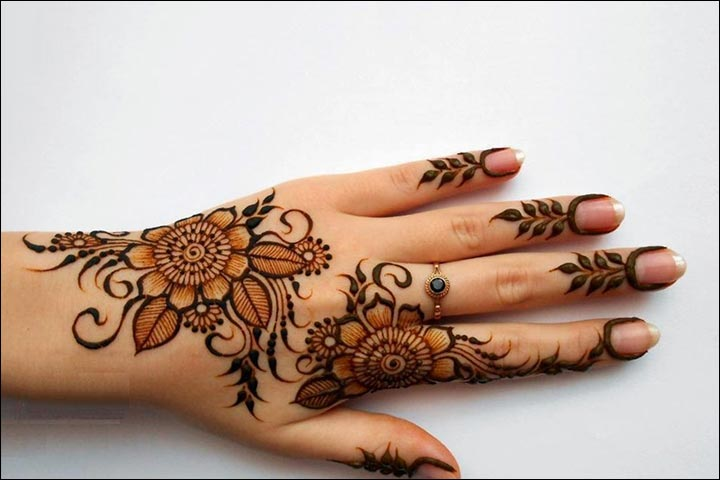 Mehndi Flower Designs For Hands : 41 dubai mehndi designs that will leave you captivated