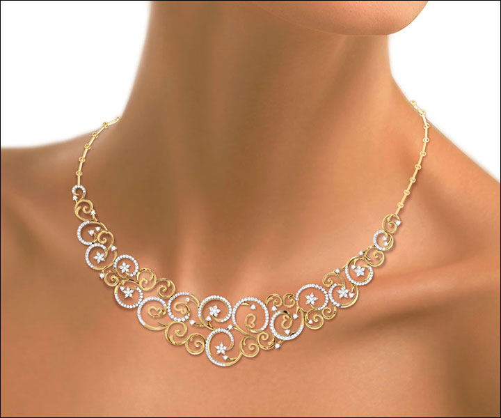 Wedding Necklace Designs - Vine Swirls Necklace