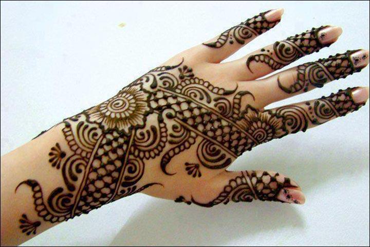 Simple Mehandi Designs - Weave Pattern